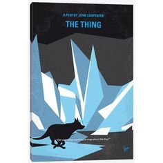 East Urban Home 'The Thing Minimal Movie Poster' by Chungkong Vintage Advertisement on Wrapped Canvas Size: