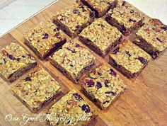 Make Your Own Chewy Granola Bars. THE Perfect Snack! | One Good Thing by Jillee