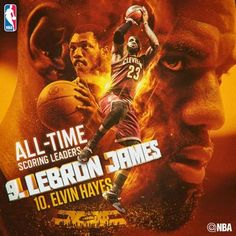 Congrats to LeBron James on passing ELVIN HAYES (27,313 points) for 9th place on the NBA's All-Time Scoring List! #ThisIsWhyWePlay