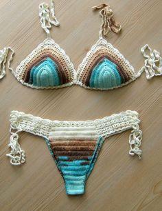 EXPRESS CARGO Batik Color Crochet Bikini Women by formalhouse