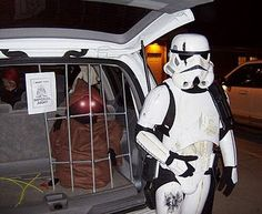 storm trooper ready to make arrest at trunk or treat