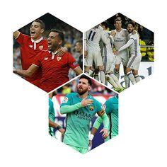 Con un partido menos, Real Madrid es líder tras vencer 3 a 2 al Villarreal. Barcelona ganó sobre el final al Atlético Madrid por 2 a 1 y quedó segundo. Tercero quedó Sevilla que ganó el derbi al Betis por 2 a 1. #Barcelona #RealMadrid #AtléticoMadrid #Mercado #Messi #Morata #Ronaldo #Iborra #Rafinha #LigaSantander #España