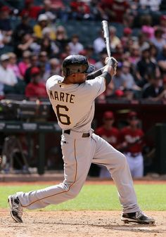 Starling Marte - Pittsburgh Pirates by ESPN Pittsburgh Sports, Pittsburgh Pirates, Baseball Batter, Pirate Photo, Pirates Baseball, Baseball Training, Mlb Teams, Team Photos, Cincinnati Reds