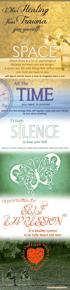 Trauma Recovery - Give Yourself Space, Time, Silence, Self-Expression