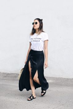 Love this look. Cool and staying cool.