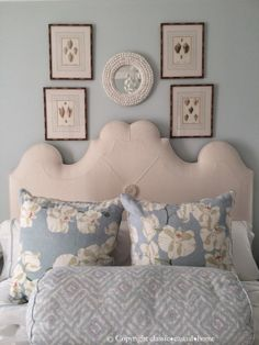 Southern California Style - Classic Casual Home Southern California Style, Tufted Bed, Upholstered Headboards, Exotic Homes, Guest Room Office, Home Bedroom, Bedroom Ideas, Bedroom Colors, Beautiful Bedrooms