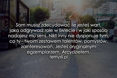 TeMysli.pl - Inspirujące myśli, cytaty, demotywatory, teksty, ekartki, sentencje Motto, Poems, Quotes, Life, Inspiration, Quotations, Biblical Inspiration, Poetry, Verses