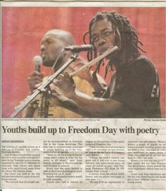 Found this news clipping when I played the flute during a poetry jam. To me, music is also a form of poetry. ‪#‎throwbackthursday‬