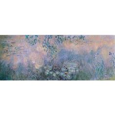 Trademark Fine Art Water Lilies 1914-22 Canvas Art by Claude Monet, Size: 8 x 24, Multicolor