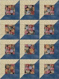 Motifs Applique Laine, Applique Quilt Patterns, Beginner Quilt Patterns, Quilting For Beginners, Pattern Blocks, Quilt Blocks Easy, Big Block Quilts, Easy Quilts, Colchas Quilting