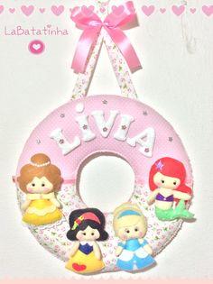 Porta Maternidade princesinhas feltro