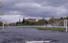 Inverness Castle and River Ness upstream of the Infirmary Bridge