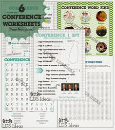 {General Conference} Conference Sundae Activity with Free Printables | Little LDS Ideas