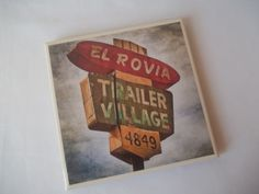 Retro Inspired Vintage Sign Ceramic Tile by CraftyGalBoutique