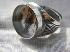 Daddy won't get lost anymore Compass Ring for par LindaMunequita, $16,00