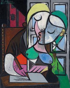 """Pablo Picasso, """"Femme écrivant,"""" 1934."""