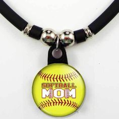 Personalized Softball Mom Necklace. Perfect for Game day!!!