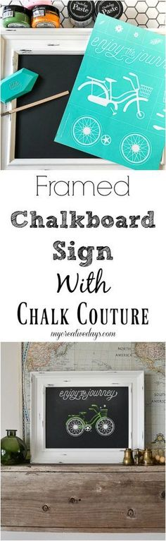 If you love chalkboard art, but struggle to make it look like the professionals, click over to learn all about the product you need to make your framed chalkboard art look perfect every time.