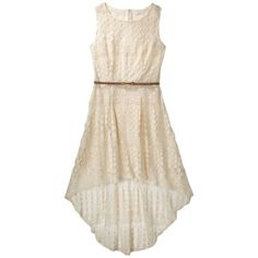 Target Xhilaration Junior s Lace High Low Maxi Dress - Natural. This has potential!
