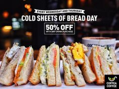 17-18 Aug 2016: Coffea Coffee Cold Sheets Of Bread Day