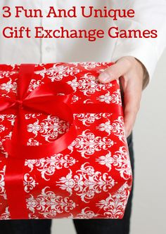 These three fun gift exchange games are perfect to change things up at your holiday party this year! And tons of funny white elephant gift ideas too! I can't wait to try out the dice game.