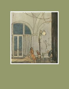 Illustrations by William Timlin from The Ship That Sailed to Mars by John Howe - Dover Publications