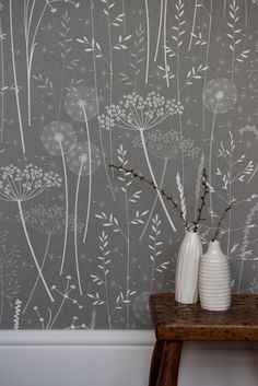 COLE & SON COW PARSLEY - CHARCOAL Hannah Nunn: Wallpaper photos...