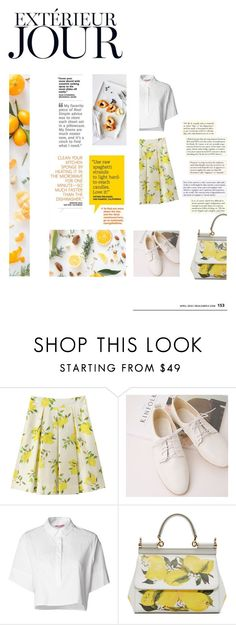 """""""Esterno giorno"""" by ljdia on Polyvore featuring Kate Spade, Free People, Organic by John Patrick and Dolce&Gabbana"""