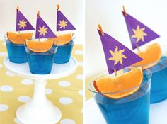 sailboat food made out of jello and oranges