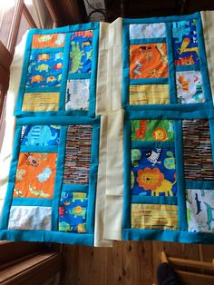 Some more quilt blocks for a baby quilt. Photo shows the quilt in progress.