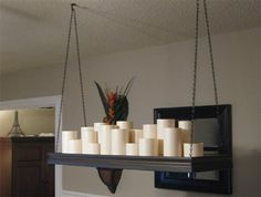 Diy Candle Chandelier For The Dinning Room