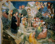 Салимбени. Проповедь Иоанна Крестителя. Фрески в Оратории Иоанна Крестителя в Урбино.