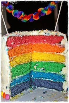 our version of the rainbow cake....