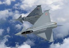 © Eurofighter - Two Eurofighter Typhoon of the Austrian Air Force during a break. Military Jets, Military Aircraft, Fighter Aircraft, Fighter Jets, Austria, Modern Warfare, Armed Forces, Air Force, Aviation