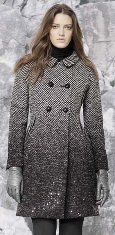 Ombre wool walking coat - CINZIA ROCCA