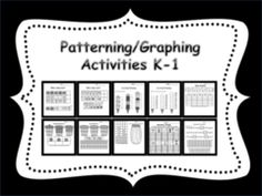This is a PDF file with 10 pages. 5 Patterning pages and 5 Graphing pages. These activities are also part of my Smartboard Patterning and Graphing products. If you are looking for interactive Smartboard lessons click the links below. Graphing Activities, Learning Activities, Activities For Kids, Teaching Kindergarten, Teaching Ideas, Teacher Helper, Math School, Teacher Notebook, K 1