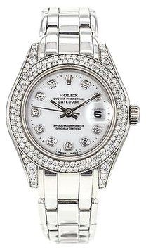 Rolex,Pearl,Master,69359,18k,White,Gold,Ladies,Masterpiece,Watch,With,Diamonds. Get the lowest price on Rolex,Pearl,Master,69359,18k,White,Gold,Ladies,Masterpiece,Watch,With,Diamonds and other fabulous designer clothing and accessories! Shop Tradesy now