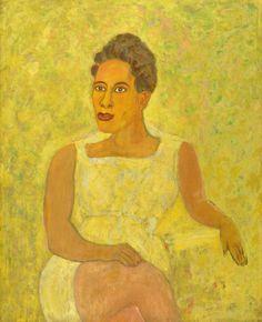 Portrait of Imogene Delaney (1963) Oil on canvas 38 ½ x 31 inches. Georgia Museum of Art, University of Georgia