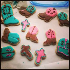 Cowgirl Boot cookies!