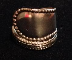 Beautiful Silver Plated Spoon Ring size 7 by wiseaurora on Etsy, $20.00