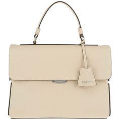 Abro Handle Bag - Baltimora Satchel Bag Beige - in beige - Handle Bag... (1.180 BRL) ❤ liked on Polyvore featuring bags, handbags, beige, top handle bags, leather satchel purse, leather tote handbags, purse tote and leather totes