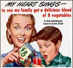 That is a LOT of excitement over a simple can of V-8. (My kids don't get that happy over V-8 juice), lol
