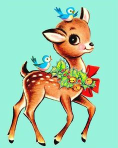 Freebie Image with Lil Blue Boo DIY Christmas Outfit! shima glanz Douglas Pretty Things For You Vintage Christmas Images, Vintage Holiday, Christmas Pictures, Vintage Images, Christmas Deer, Retro Christmas, Xmas, Christmas Graphics, Oh Deer