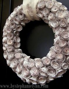 Hang a wreath on your door made from the pages of unwanted books, custom-color your own vases and mason jars, turn torn doilies into a pretty hanging lamp