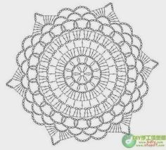 Lunamon Design: Brikke etter diagram - Doily made from a chart.