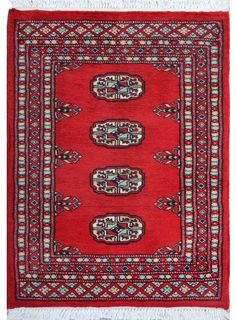 "Red Oriental Bokhara Rug 2' 1"" x 3' (ft) - No. 11903  http://alrug.com/bokhara-rugs/red-oriental-bokhara-rug-2-1-x-3-ft-no-11903.html"