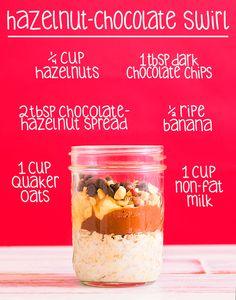 """""""Hazelnut Chocolate Banana"""" Overnight Oats Recipe"""