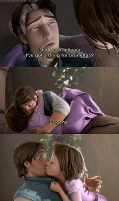 Disney 30 Day Challenge: Favorite Kiss: Eugene and Rapunzel Disney And Dreamworks, Disney Pixar, Walt Disney, Disney Nerd, Flynn Rider, Disney Tangled, Disney Magic, Tangled 2010, Tangled Rapunzel