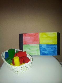 Gekleurden blokjes soteren