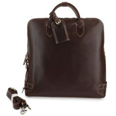 "wanderkgim's save of Handmade Genuine Leather Briefcase Tote Handbag Messenger 14"" Laptop / 15"" Macbook Pro Bag(z16) on Wanelo"